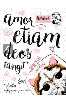 Блокнот Amor etiam deos tangit, А5+ cacharel amor amor туалетная вода женская 50 мл
