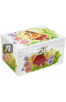 Шкатулка музыкальная  Фея на грибе (50000) jakos музыкальная шкатулка феи в листьях