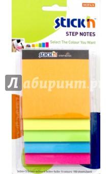Блок для записи самоклеящийся Magic (150 листов, неон 5 цветов) (21423) блок для записи самоклеящийся inblooom 100 листов 4 цвета с рисунком 28074