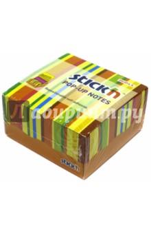 Блок для записи самоклеящийся (200 листов, 76x76 мм, Z-сложение, 2 цвета) (21427) блок для записи самоклеящийся inblooom 100 листов 4 цвета с рисунком 28074