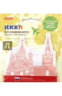 Блок для записи самоклеящийся Russia (30 листов, вырубной) (21704) блок для записи самоклеящийся inblooom 100 листов 4 цвета с рисунком 28074