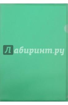 Папка-уголок (A4, пластик, 0. 18 мм, зеленая) (E310/1GR)