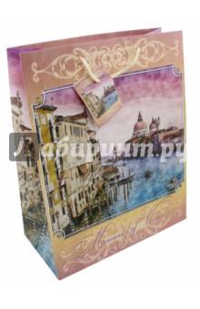 """Бумажный пакет """"Рассвет в Венеции"""" (26х32,4х12,7 см) (44195)"""