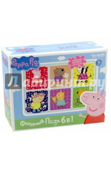 Peppa Pig. Развивающий пазл 6 в 1 фигурный Хобби (01566) пазл 4 в 1 peppa pig транспорт 01597
