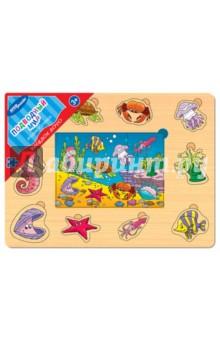 Игра из дерева Весёлое лото. Подводный мир (89607) настольные игры djeco игра лото дом