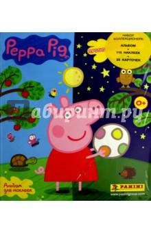 Набор коллекционера Peppa Pig. Игра противоположностей. Альбом + 25 пакетиков с наклейками пазл origami peppa pig транспорт 4 в 1