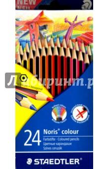 Набор карандашей, 24 цвета Noris Colour Wopex (185CD24LQ)