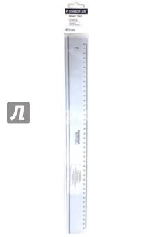 Линейка пластиковая прозрачная 40 см (56204-40S) линейка 20 см пластиковая прозрачная