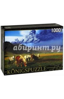 Puzzle-1000 Лошади и вулкан (КБК1000-6463) лошади 1000 фотографий