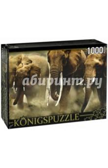 Puzzle-1000 Стадо слонов (КБК1000-6464) rosenberg 6464