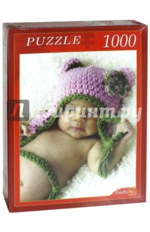 "Puzzle-1000. ""Малыш в вязаной шапочке"" (АЛ1000-7015)"