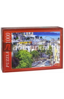 Puzzle-1000 Улица Сан-Франциско (КБ1000-6889) пазлы crystal puzzle 3d головоломка вулкан 40 деталей