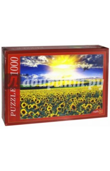 Puzzle-1000 Поле подсолнухов (КБ1000-6897) пазлы crystal puzzle 3d головоломка вулкан 40 деталей