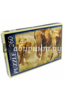 "Puzzle-260 ""Бегущие слоны"" (КБ260-4007)"