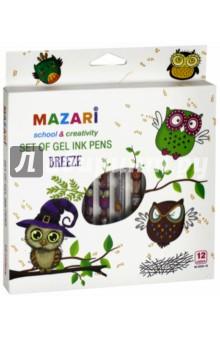 Набор ручек гелевых с блестками (ароматизированные, 12 цветов) (М-5516-12) mazari набор гелевых ручек nidea 4 цвета