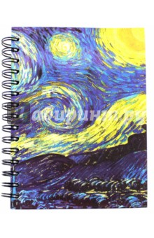 Скетчбук. Ван Гог Звёздная ночь (01818) блокнот в пластиковой обложке ван гог цветущие ветки миндаля формат малый 64 страницы арте