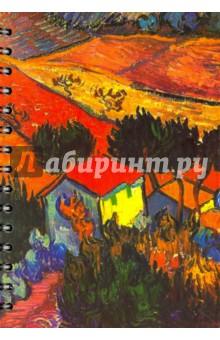 """Скетчбук, 100 листов, А5 """"Ван Гог. Пейзаж с домом и пахарем"""" (01764)"""