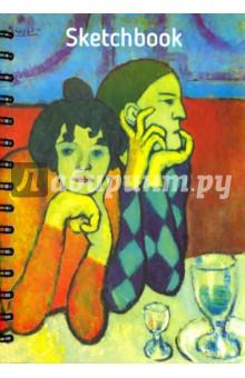 Скетчбук, 100 листов, А5 Пикассо. Арлекин и его подружка (01795) делай 100 листов а5