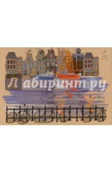 Альбом для рисования Красочная набережная (40 листов, склейка) (АЛ401622)