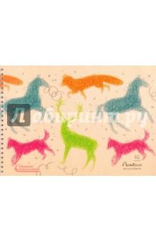 Альбом для рисования Яркие зарисовки (40 листов, гребень) (АСКЛ401548) the art of kentaro nishino зайчики лицензия альбомы для рисования гребень 40 листов