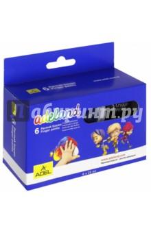 Краски пальчиковые Adeland (6 цветов, 25 мл) (234-0620-100) краски спейс краски пальчиковые 6 цветов сенсорные