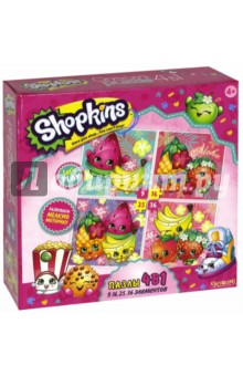 Shopkins. Пазл 4 в1 Tropical (02905) shopkins 1