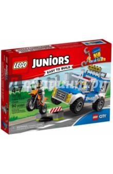 Конструктор Juniors. Погоня на полицейском грузовике (10735) конструктор lego juniors 10720 погоня на полицейском вертолёте
