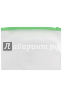 Папка-конверт пластиковая, на молнии (А4, прозрачная) (AKm4_00030)
