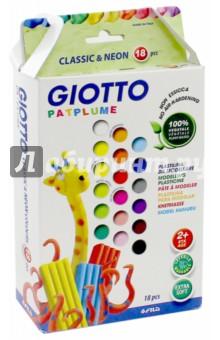 Пластилин Giotto Patplume. 18 цветов по 20 гр. (513100) giotto patplume пластилин 15 цветов х 50 г 30 шт