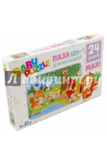 Пазл-24 maxi Лесная пасека (02987) origami пазл для малышей лесная пасека