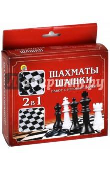 Набор шахматы+шашки с игровым полем (ИН-1618)