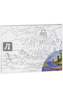 Холст для рисования Маяк и море (с красками, 30х40 см) (Х-9840) холст 30х40 маки и сирень х 6171