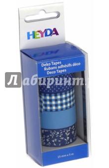 Набор декоративных клеевых лент (4 вида, 15 мм х 5м, лазурный) лента stayer profi клейкая противоскользящая 50мм х 5м 12270 50 05