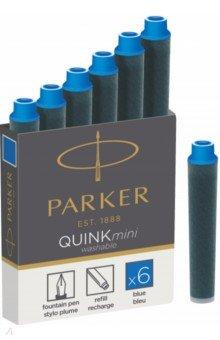 Картридж Quink Ink Z17 MINI синий, 6 шт (1950409) картридж parker quink ink z17 mini для перьевых ручек чернила синие 6шт s0767240