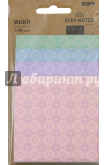 Блок для записей самоклеящийся in Blooom (100 листов, 4 пастельных цвета с рисунком) (28073) блок для записи самоклеящийся inblooom 100 листов 4 цвета с рисунком 28074