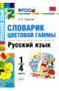 Обложка УМК Словарик. Рус. яз. 1-4кл. Цветовая гамма