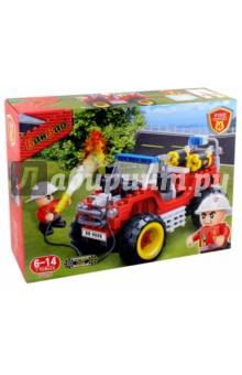Конструктор Пожарный внедорожник (212 деталей) (7106) конструктор banbao пожарный джип 158 элементов 8299