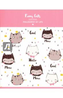 """Тетрадь общая """"Funny Cats"""" (48 листов, клетка, А5) (N965) Доминанта"""