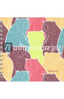 """Скетчбук """"Цветные мишки"""" (80 листов, 195х195 мм, спираль) (ТС5804483) Эксмо-Канц"""