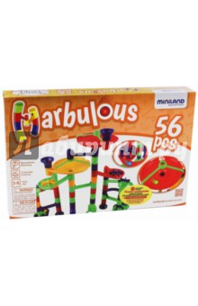 Конструктор Marbulous, 56 деталей (94114) tototoys tototoys конструктор крутые виражи marbulous 80 дет