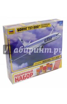 Купить Сборная модель Пассажирский авиалайнер Боинг 737-800 , 1/144 (7019П), Звезда, Пластиковые модели: Авиатехника (1:144)