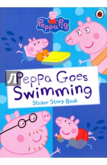 Peppa Pig. Peppa Goes Swimming (Sticker Story Book) abc with peppa