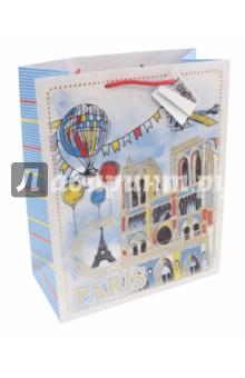 Пакет бумажный Нотр-Дам (26х32,4х12,7) (44237) пакет феникс бумажный с тиснением старые карты 12 7 36 8 3см 40890