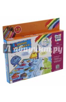 Купить Коврик- многоразовая раскраска Морской мир (66758), KriBly Boo, Раскраски