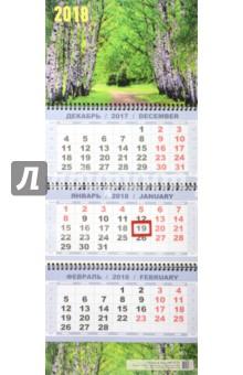 Квартальный календарь на 2018 год Березы