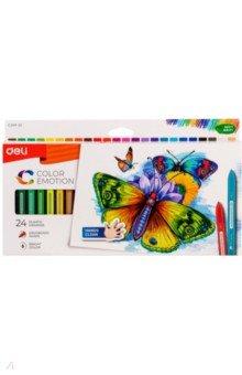 Восковые мелки Color Emotion (24 цветов, трехгранные) (EC20020) карандаши color emotion 12 цветов трехгранные ec00200