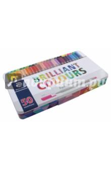 Набор капиллярных ручек 50 цветов Triplus (334M50) staedtler набор капиллярных ручек triplus 334 15 цветов
