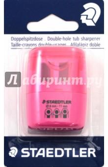 Точилка (2 отверстия, неон розовый) (51260F20BK)