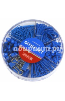 Набор офисный Colour Code, синий umbra набор из 10 скрепок specs разноцветный