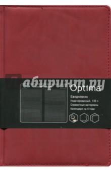Ежедневник недатированный, 136 листов, искусственная кожа Бордо (ЕКО51813601)